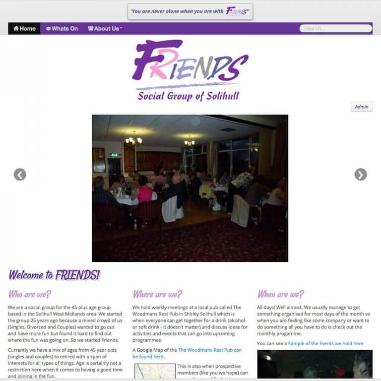 friends-socialgroup-website